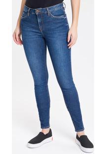 Calça Jeans Feminina Super Skinny Com Premium Stretch Cintura Média Azul Marinho Calvin Klein - 34