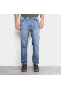 Calça Jeans Reta Ellus Comfort Flame Straight Masculina - Masculino-Azul