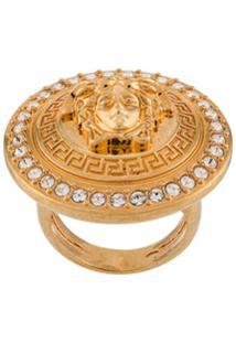 Versace Anel Com Medalhão 'Medusa' - Dourado
