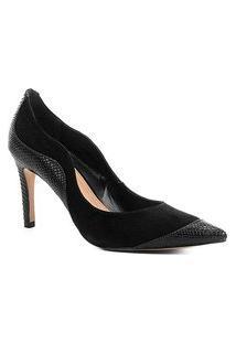 Scarpin Couro Shoestock Salto Alto Curves