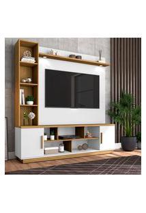 Estante Home Prestige Para Tv Até 60 Pol Móveis Bechara Branco/Cinamomo