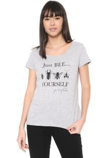 Camiseta Malwee Estampada Cinza