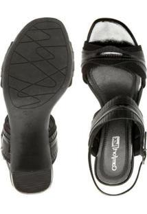 Sandália Salto Comfortflex 1856404 Confortável - Feminino
