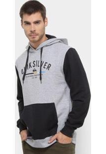Moletom Quiksilver Simple Colour Hood Masculino - Masculino-Cinza