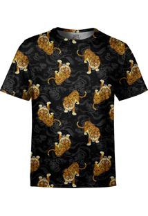 Camiseta Estampada Over Fame Tigre Japonês Preta