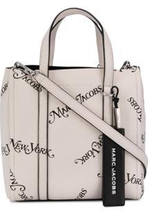 Marc Jacobs Bolsa Tote Com Estampa De Logo - Branco