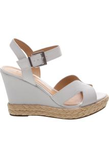 Sandália Anabela Leather White | Schutz