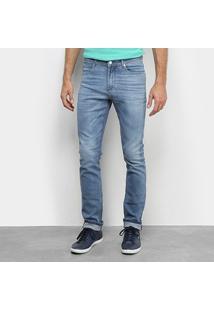 Calça Jeans Lacoste Hh Masculina - Masculino-Azul