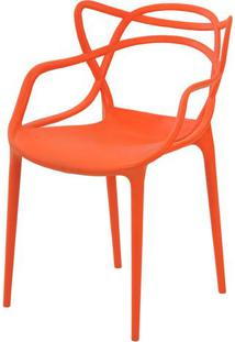Cadeira Allegra Em Polipropileno Cor Laranja - 44935 - Sun House