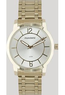 Relógio Analógico Mondaine Feminino - 99126Lpmvde1 Dourado - Único