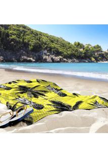 Toalha De Praia / Banho Tropical Abacaxi