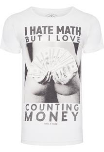 Camiseta Masculina Counting Money - Off White