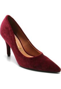 Apato Scarpin Vizzano Bico Fino - Feminino-Bordô