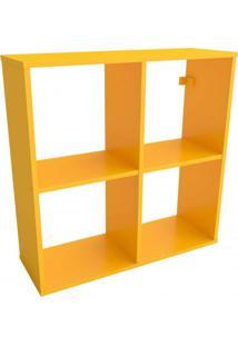 Nicho Modular 2X2 Pegue Leve Casa D Amarelo