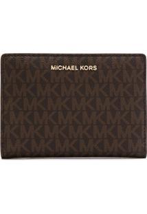 Michael Michael Kors Carteira 'Carryall' Com Logo - Marrom