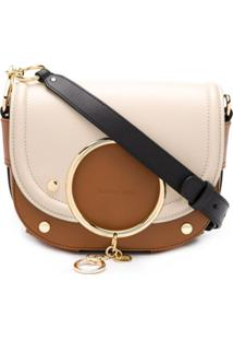 See By Chloé Mara Logo Charm Crossbody Bag - Marrom