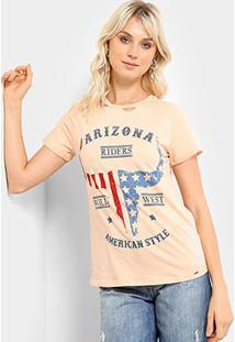 Camiseta Lez A Lez Estampada Arizona Feminina - Feminino-Rosê