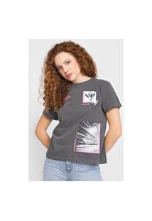 Camiseta Forum Lettering Cinza