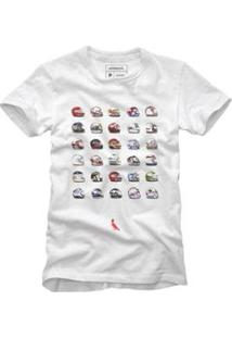 Camiseta Reserva Capacetes Masculina - Masculino-Branco