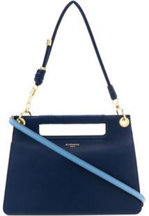 Givenchy Bolsa Tiracolo Whip Média - Azul