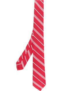Thom Browne Gravata Listrada - Vermelho