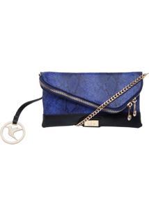 Bolsa Isabella Piu Cobra Azul