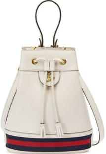 Gucci Bolsa Bucket Ophidia Pequena - Branco
