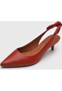 Scarpin Bottero Slingback Vermelho - Vermelho - Feminino - Dafiti