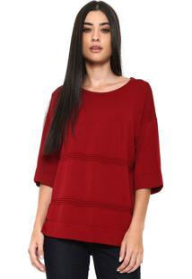 Blusa Finery London Benmore Knitted Vermelha - Kanui