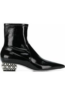 René Caovilla Ankle Boot Ladyperla - Preto