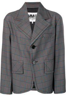 Mm6 Maison Margiela Oversized Fit Blazer - Azul