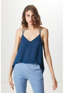 Blusa Alça Dupla Basic-Single Blue - Pp