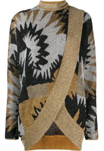 Missoni Printed Wrap Cardigan - Cinza