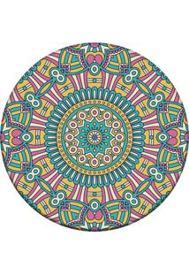 Tapete Love Decor Redondo Wevans Mandala For Multicolorido 84Cm