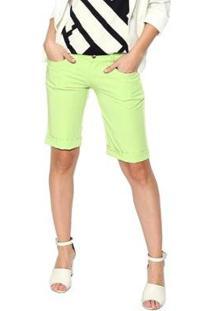 Bermuda Energia Fashion Feminina - Feminino-Verde Limão