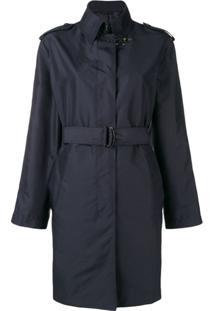 Fay Trench Coat Com Cinto - Azul