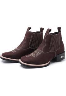 Bota Botina Feminina Texana Pessoni Boots Couro Cano Curto Marrom - Marrom - Feminino - Couro - Dafiti