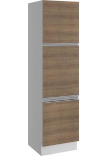 Paneleiro Glamy 3 Portas 60Cm Rustic/Branco Madesa