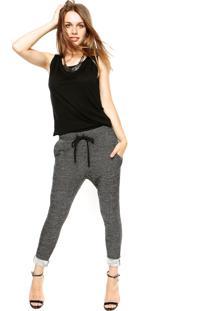 Macacão Calvin Klein Jeans Moletom Preto