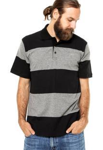 Camisa Polo Manga Curta Quiksilver Tropcs Large Preta