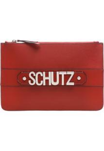 Clutch Golden Logo Scarlet | Schutz
