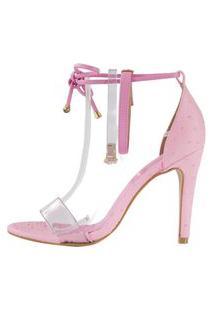 Sandália Minimalista Week Shoes Vinil 3 Tiras Rosa.