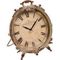 45f2ed2d9ef Relógio De Mesa Decorativo Reichenau De Metal Envelhecido