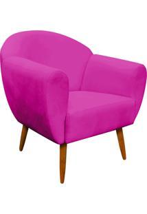 Poltrona Decorativa Sofia Suede Pink - D'Rossi