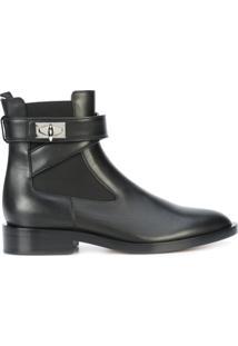 Givenchy Ankle Boot De Couro 'Shark Lock' - Preto