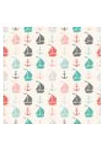 Papel De Parede Adesivo - Barco E Ancora Color - 021Ppb