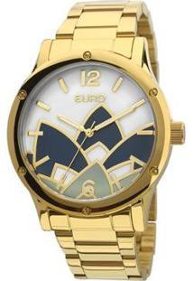 Relógio Euro Feminino Madrepérola - Eu2035Ycx/4D Eu2035Ycx/4D - Feminino-Dourado