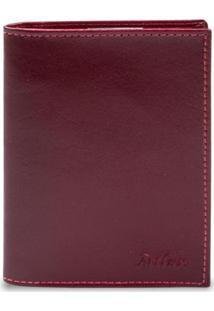 Carteira Porta Documento Artlux Masculina - Masculino-Vermelho
