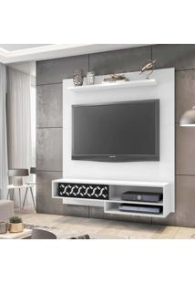 "Painel Home Suspenso Para Tv Atã© 50"" Osaka Branco - Mã³Veis Leã£O - Multicolorido - Dafiti"
