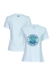 Camiseta Fem. Jeep Round - Branca